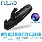 FULAO Hidden Spy Clothes Hook Cam Surveillance Full HD Covert 1280p Security Home Recorder Camera Black