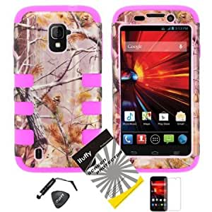 Bloutina 4 items Combo: Mini Stylus Pen + LCD Screen Protector Film + Case Opener + Pine Tree Leaves Camouflage Outdoor...