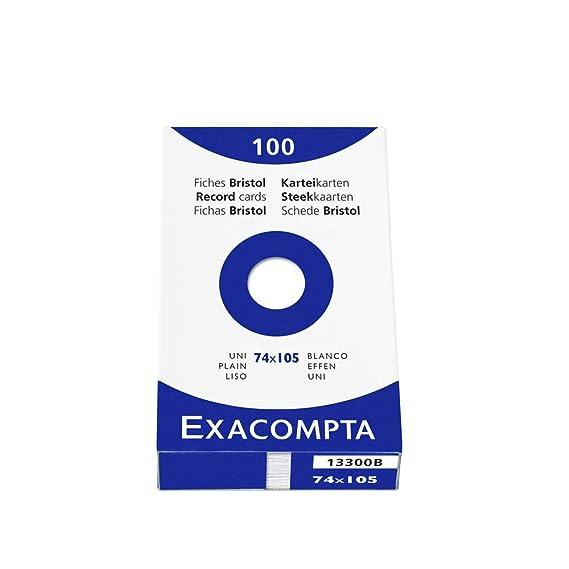 Exacompta 13349B Packung 1er Pack gr/ün mit 100 Karteikarten, blanko, DIN A6, 10,5 x 14,8 cm, ideal f/ür die Schule
