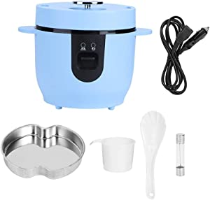 ??????????? ???????????? ???????????Electric Cooker 24V Rice Cooker Car Rice Cooker 2L Sky Blue Rice Cooker Rice Cooking Tool 2L Large Capacity Portable Electric Rice Cooker Outdoor for Car