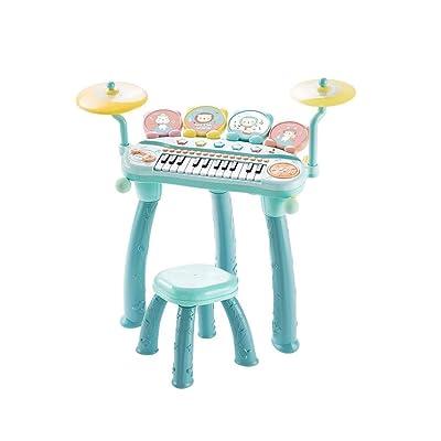 HXGL-piano 24 Piano Estándar Teclado Electrónico For Niños Principiante Niños Y Niñas Rompecabezas Instrumento Musical Tambor De Piano Juguete Dos En Uno Regalo De 3-5 Años (Color : Green): Hogar