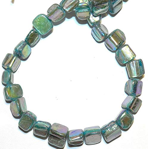 (Blue AB Medium 8mm - 10mm Tri-Tip Nugget Mother of Pearl Shell Beads 15#ID-882)