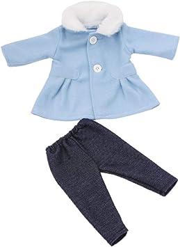 Tal como se Describe Encantadora Chica Top De La Mu/ñeca Y Pantalones para El Vestido De Fiesta De Mu/ñecas del Beb/é De 43 Cm Cielo Azul CUTICATE Juego De Ropa De Mu/ñeca De 18 Pulgadas