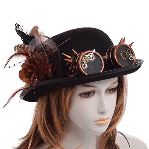 BLESSUME Steampunk Top Hat