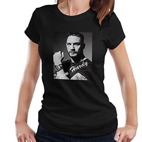 Coto7 Tom Hardy Black and White Headshot Tribute Women's T-Shirt