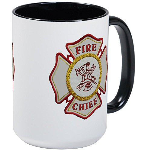CafePress Fire Chief Maltese Large Mug Coffee Mug, Large 15 oz. White Coffee Cup ()