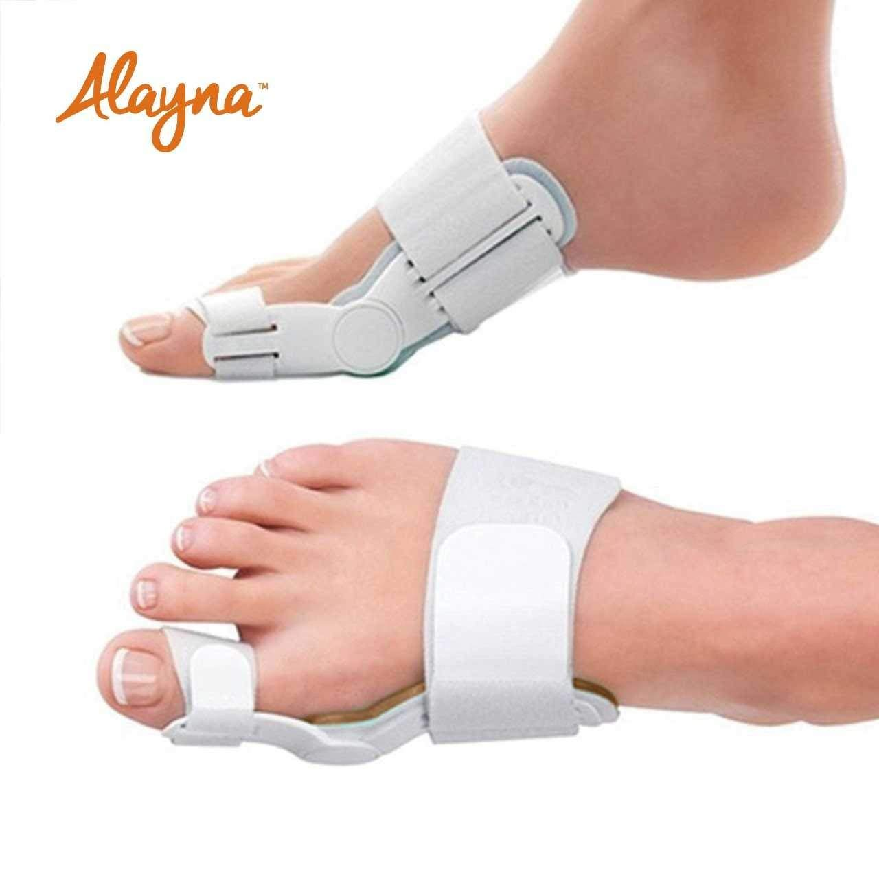 Bunion Corrector and Bunion Relief Orthopedic Bunion Splint Pads for Men and Women Hammer Toe Straightener and Bunion Protector Cushions- Relieve Hallux Valgus Foot Pain and Soothe Sore Bunions by Alayna (Image #2)