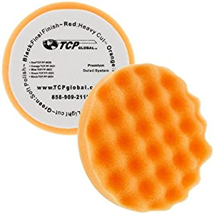 "6.7"" 6-Pad Waffle Foam & Wool Polishing Grip Pad Set"