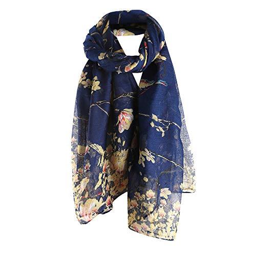 Sciarpa Sciarpe Winter di invernale seta Vogue lana Slim Donna Angelof bandana Sciarpa di Lunghe Autumn di Navy Chales zrxqwUHz1