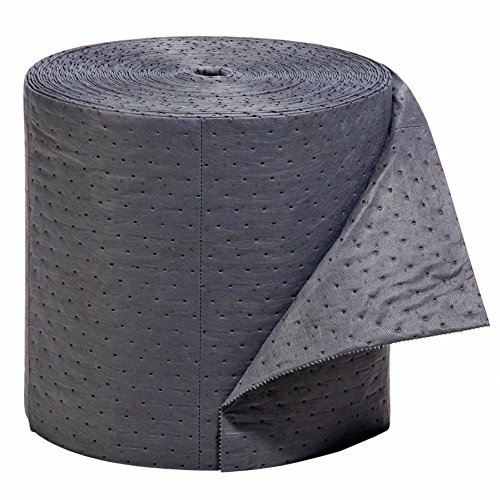 New Pig Absorbent Mat Roll, Extra Heavy Duty, 18-Gallon Absorbency, Heavyweight, Absorbs Oil and Water, 150' x 16