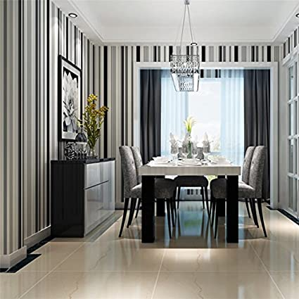 Wapel Simple Black And White Striped Wallpaper Living Room Bedroom