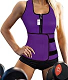 Sauna Waist Trainer, Ursexyly Hot Cincher Promotes Sweating during Exercise (X-Large, Purple 3)