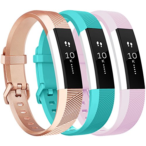 Vancle for Fitbit Alta HR/Ace Bands and Alta Bands, Adjustable Replacement  Accessories Wristbands for Fitbit Ace/Alta and Alta HR, Rose-Gold Teal