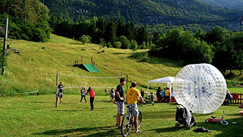 Qiyun Zorb Ball Inflatable Ball Zorbing Human Hamster Ball PVC1 0mm 2 5M 8 2ft (Human Water Hamster Ball)