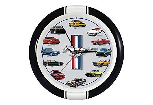 mustang car clock - 1