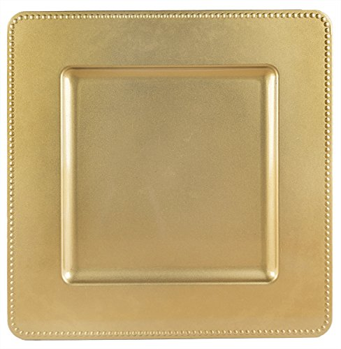 Darice 13 In. Square Charger Plate Dot Edge - Gold - Buy Online in UAE. | Kitchen Products in the UAE - See Prices Reviews and Free Delivery in Dubai ... & Darice 13 In. Square Charger Plate Dot Edge - Gold - Buy Online in ...