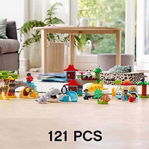 LEGO DUPLO Town World Animals 10907 Exclusive Building Bricks (121 Pieces)