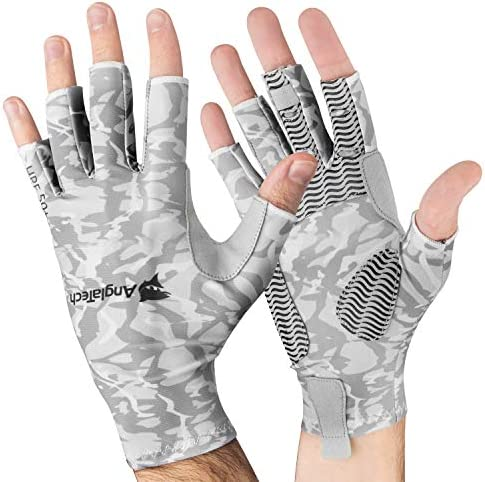 Anglatech フライフィッシンググローブ 男女兼用 指なし 紫外線防止 UPF50+