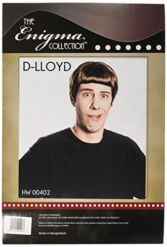 Enigma Wigs Men's D-Lloyd Wig, Brown, One (Dumb And Dumber Wig)