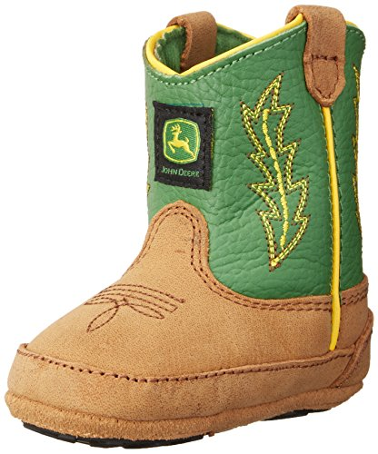 John Deere 186 Western Boot (Infant/Toddler),Tan/Green,1 M US Infant ()