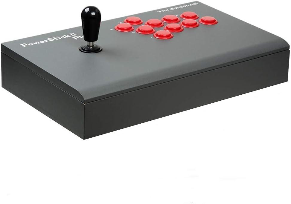 Dahoon Power Stick II Plus USB Universal Arcade Fight Stick Joystick (DHU-3300D) for PC, Laptops and Online Tekken 7 Gameplay, Dark Gray