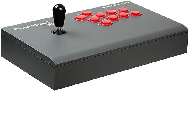 Dahoon Power Stick Ii Plus Usb Universal Arcade Fight Stick Joystick Dhu 3300d Pc Laptop Online Tekken 7 Gameplay Dunkelgrau Computers Accessories