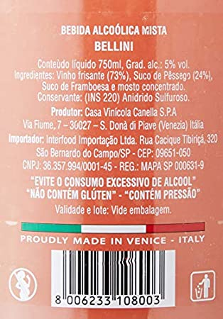Casa Vinicola Bellini Canella - 3 Paquetes de 750 ml - Total: 2250 ml