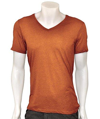 Bershka - Camiseta - para hombre marrón Herrumbre Large: Amazon.es: Ropa y accesorios