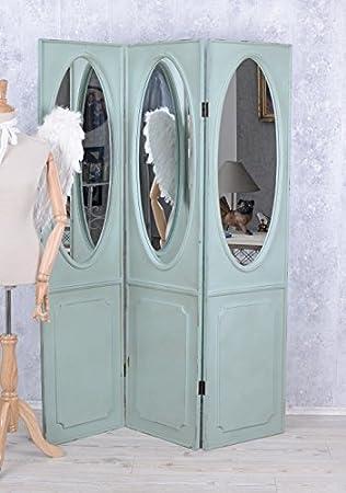 Ancien Paravent Miroir Diviseur Brise Vue Shabby Chic Mur Espagnol