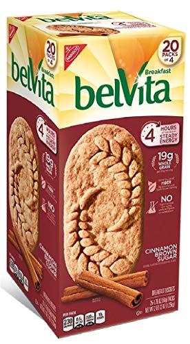 Belvita Brown Sugar Cinnamon Biscuits (1.76 oz. per pk, 20 pks.) Pack of 2 ()