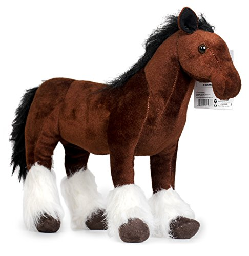 Charmaine the Shire Horse | 18 Inch Large Shire Horse Stuffed Animal Plush Pony | By Tiger Tale (Horse Pony Photos)