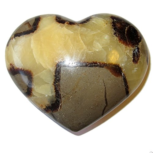 Septarian Heart 53 Yellow Brown Crystal Spiritual Uplift Stone Unconditional Love Gift (Septarian Heart)