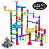 Marble Run Sets for Kids, Gifts2U Marble Race Track Game 90 Translucent Marbulous Pieces + 32 Glass Marbles, STEM Marble Maze Building Blocks for Kids 4+ Year Old