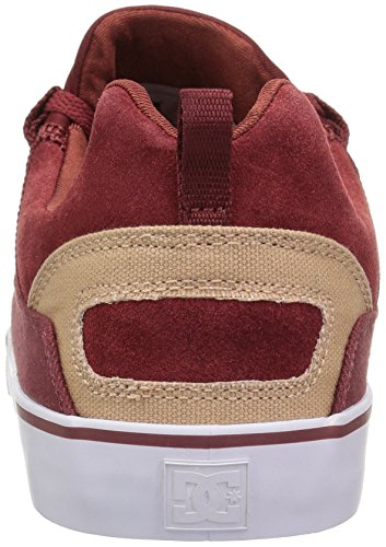 Dc Mens Heathrow Vulc Scarpa Da Skate Bordeaux / Marrone Chiaro