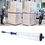 Wraprod Wrap Dispenser Hand Stretch Film Wrap Roll Dispenser Industrial Heavy Duty Light Weight, Holds 20'' Film