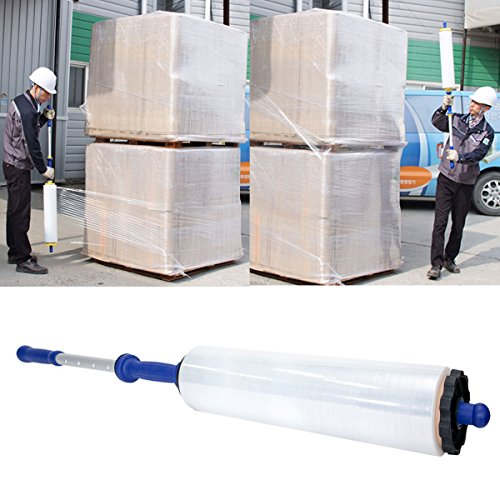 Stretch Film Adjustable Hand Dispenser (Wraprod Wrap Film Dispenser Hand Stretch Film Wrap Roll Dispenser Industrial Heavy Duty Light Weight, Holds 20