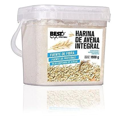 Best Protein Harina de Avena Neutro - 3 Paquetes de 1900 gr - Total: 5700