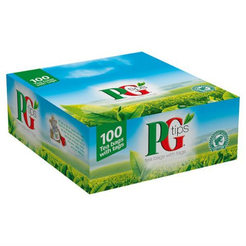 PG Tips 100 Tagged Tea Bags Case Of 12 by PG Tips
