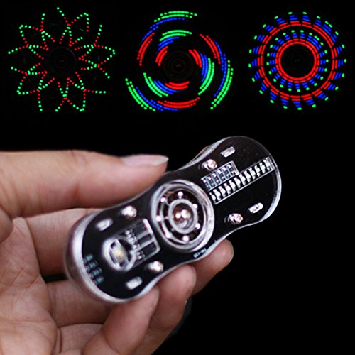 (BONATECH Single Chip Microcomputer LED Fingertip Gyro Production Kit with Acrylic Shell Parts Display Text Pattern Programmable (Full Set of)
