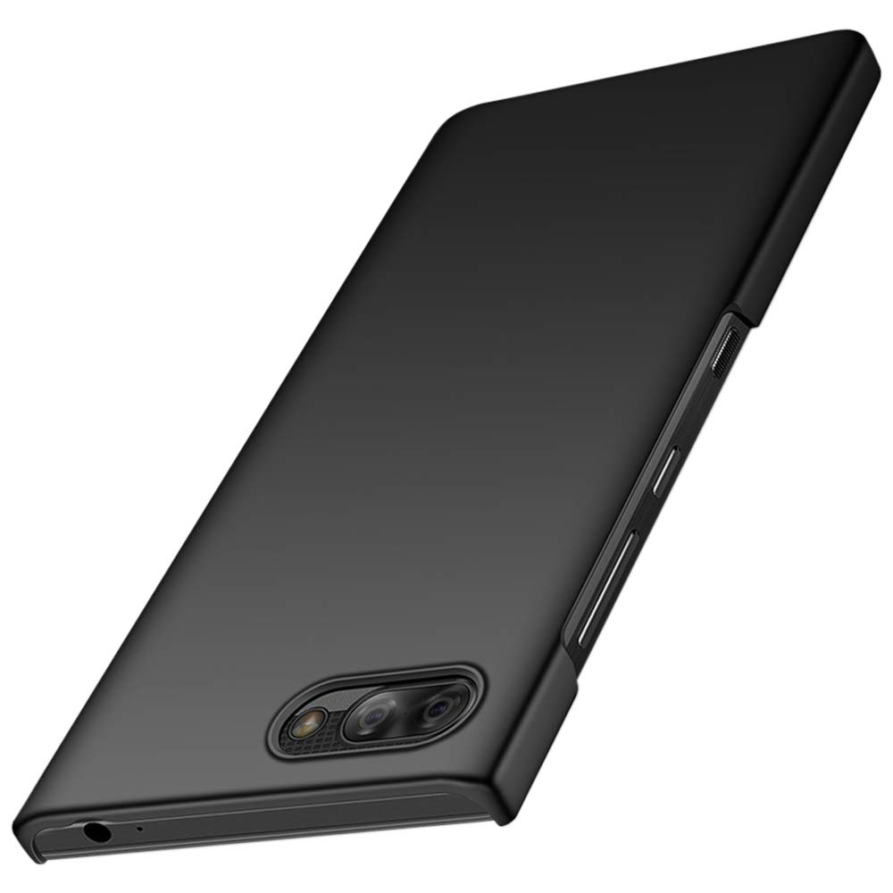 EasyULT Thin Fit BlackBerry KEY2 Case, [Ultra-Thin] [Anti-Drop] [ Smooth] Premium Material Full Protection Cover with SF Coated Non Slip Matte Surface Thin Case for BlackBerry KEY2 - Smooth Black Case-BlackBerryKEY2-PCBlack