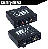 Digital Optical Fiber Analogue Audio Bi-directional Converter, HiFi Headphone Amplifier 2-way Audio Toslink to Coaxial Converter by LoveQmall