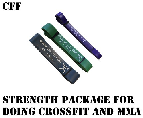 Cheap CFF Monster Strength Band Cross Training Pull up Package – Strength, Pull-Up, Power-Lifting, Jump, Speed, Sprinting, Mobility, Stretching (Includes 3 Bands)