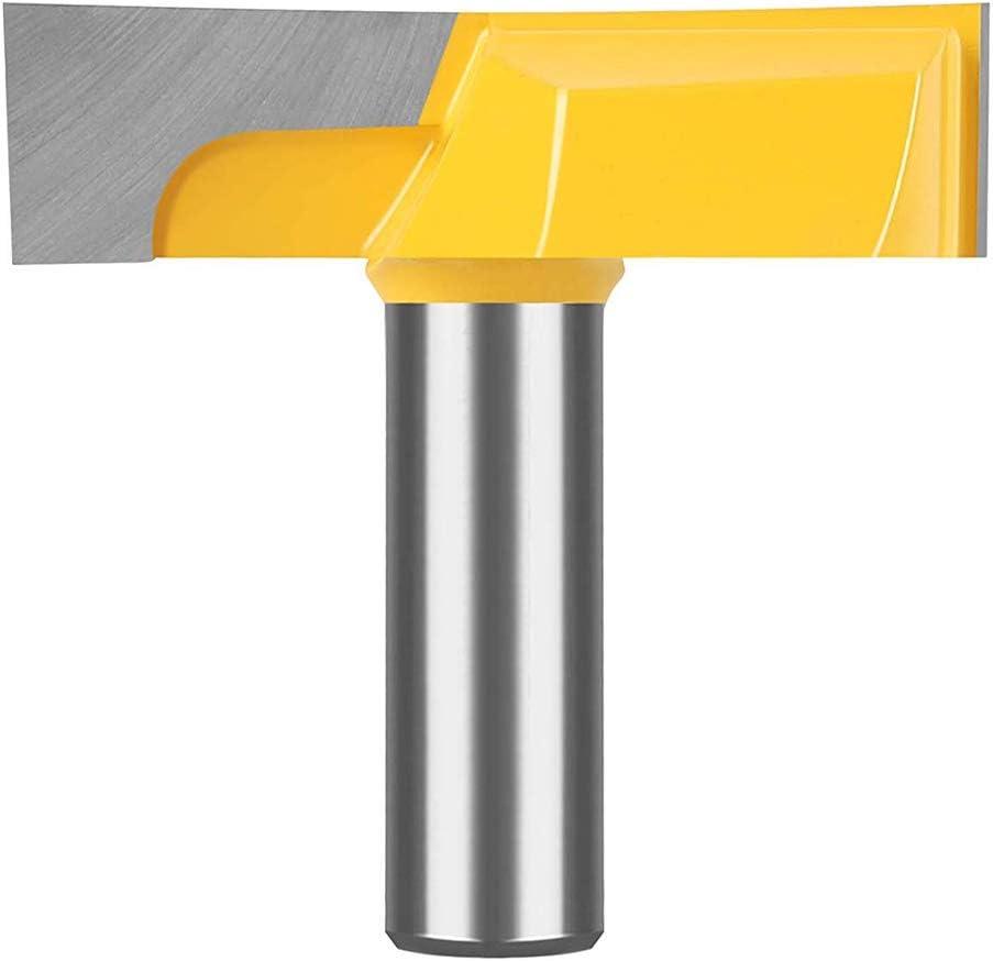 Morning Bit, Spoil Board Oberfl/äche, Slab Abflachung Holzbearbeitungsfr/äser Durchmesser Xueliee 1,27 cm Schaft 5,7 cm mit Hartmetall best/ückt Bodenreinigungsfr/äser