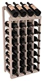 Wine Racks America Ponderosa Pine 4 Column 8 Row Display Top Kit. Grey Wash Stain