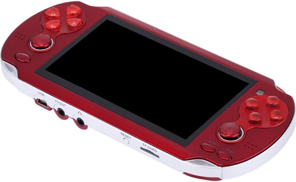 DUOCACL Spielhandheld-Konsole tragbare Spielekonsole mit Zwei Joystick-Tasten Retro-Spielekonsole mit integriertem 4,3-Zoll-HD-Bildschirm 3000 Spiele