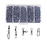 YONGZHI Fishing Swivels & Snaps Stainless Stainless Steel High Strength 65LBS for Bass Trout in Saltwater and Freshwater (50pcs Total)