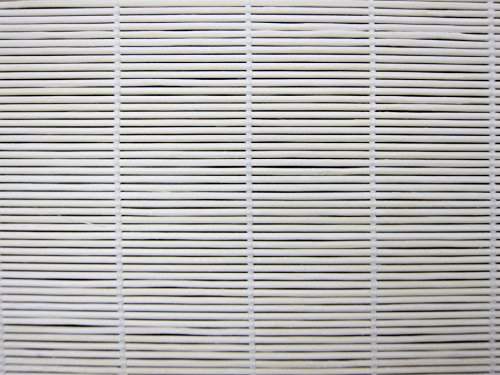 Cordless Woven Wood Roman Shades, 24W x 36H, Bayhead White, Any Size 20-72 Wide and 24-72 High (Shades Window White Wicker)