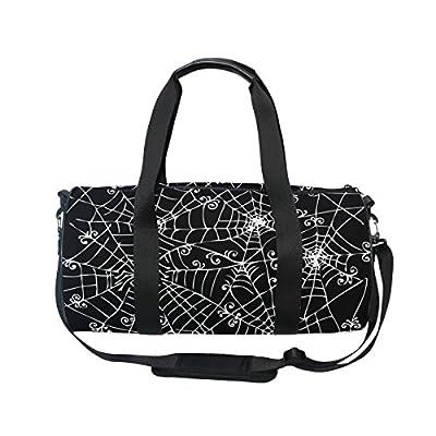 25be188633 85%OFF U LIFE Vintage Halloween Spooky Spider Web Sports Gym Shoulder Handy  Duffel Bag