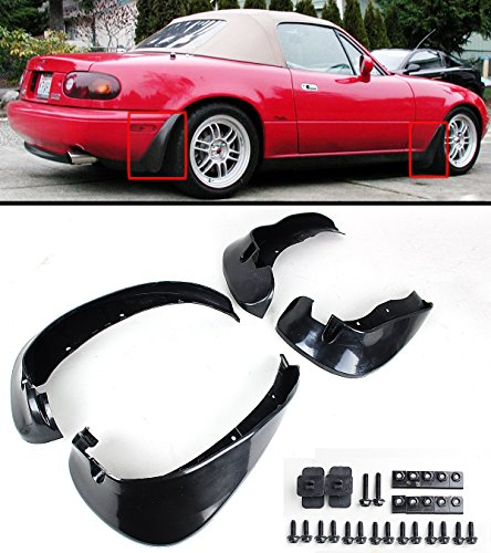 Cuztom Tuning Fits for 1990-1997 Mazda Miata NA JDM 4pcs Front & Rear Splash Mud Flaps Guards Set