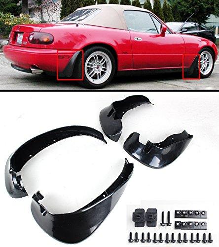 Cuztom Tuning For 1990-1997 Mazda Miata NA JDM 4pcs Front & Rear Splash Mud Flaps Guards ()